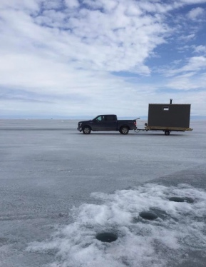 ICE FISHING BY HARBOUR